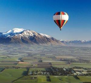 Hot Air Balloon over Canterbury Plains