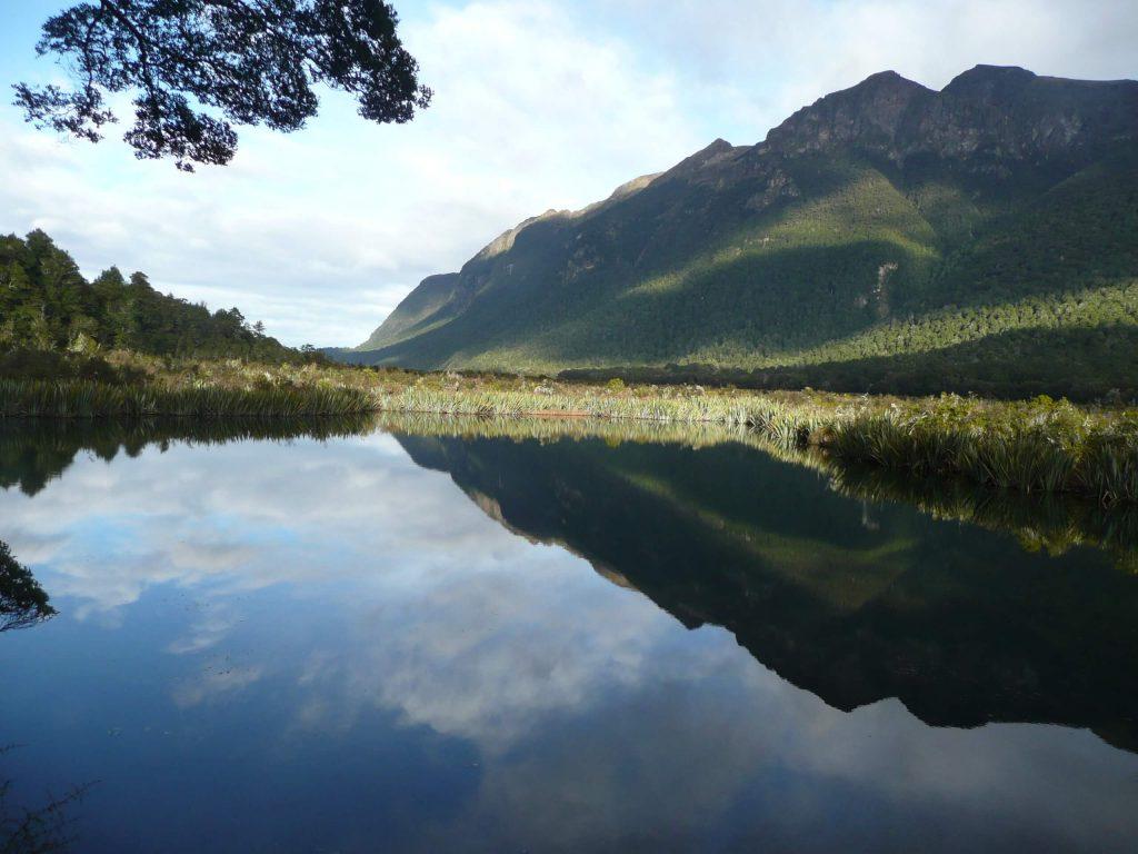 Mirror Lakes Eglinton Valley on Milford Sound Road
