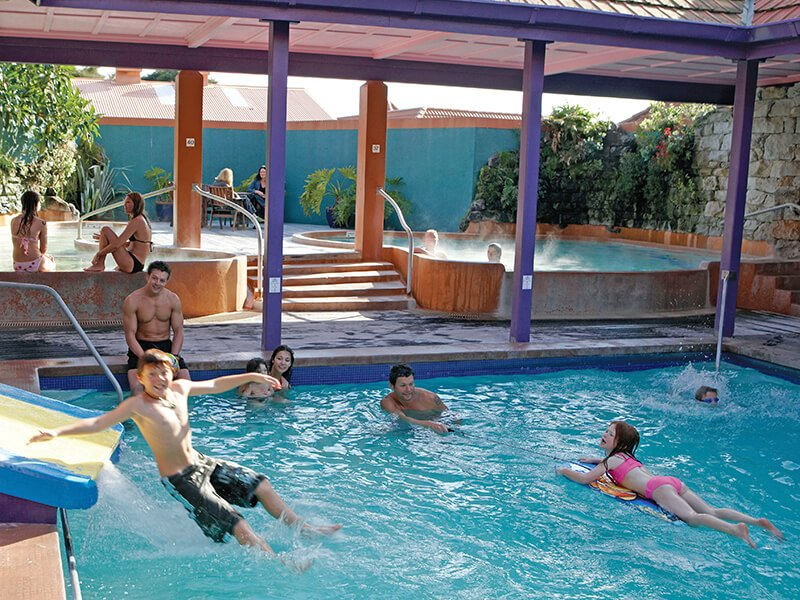 Polynesian Spa family pool area in Rotorua New Zealand