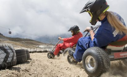 Cardrona Mountain Carting couple